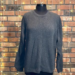 American Eagle Gray Knit Sweater Thick Warm